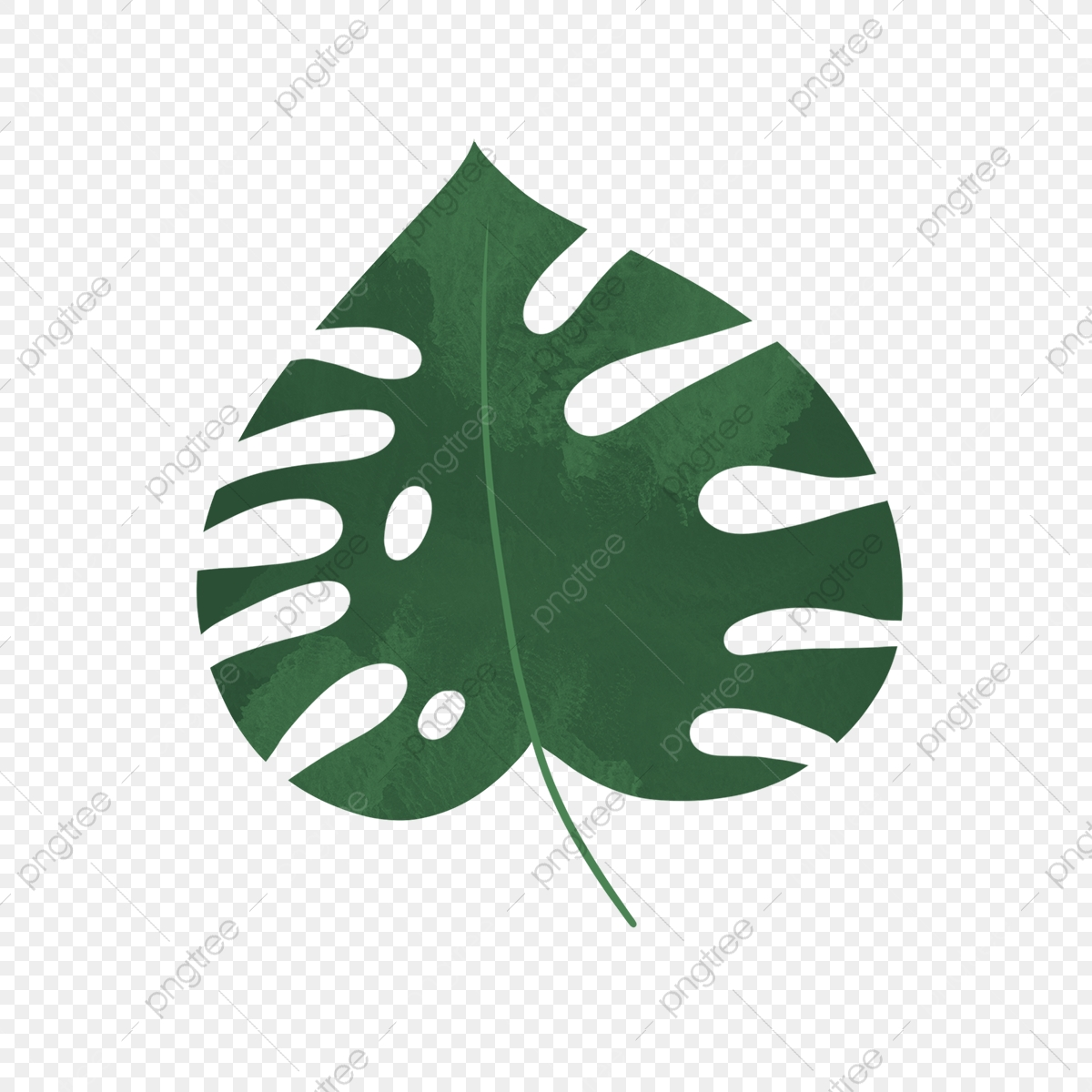 Hand Drawn Cute Green Tropical Leaf Leaf Drawing Nature Png Transparent Clipart Image And Psd File For Free Download