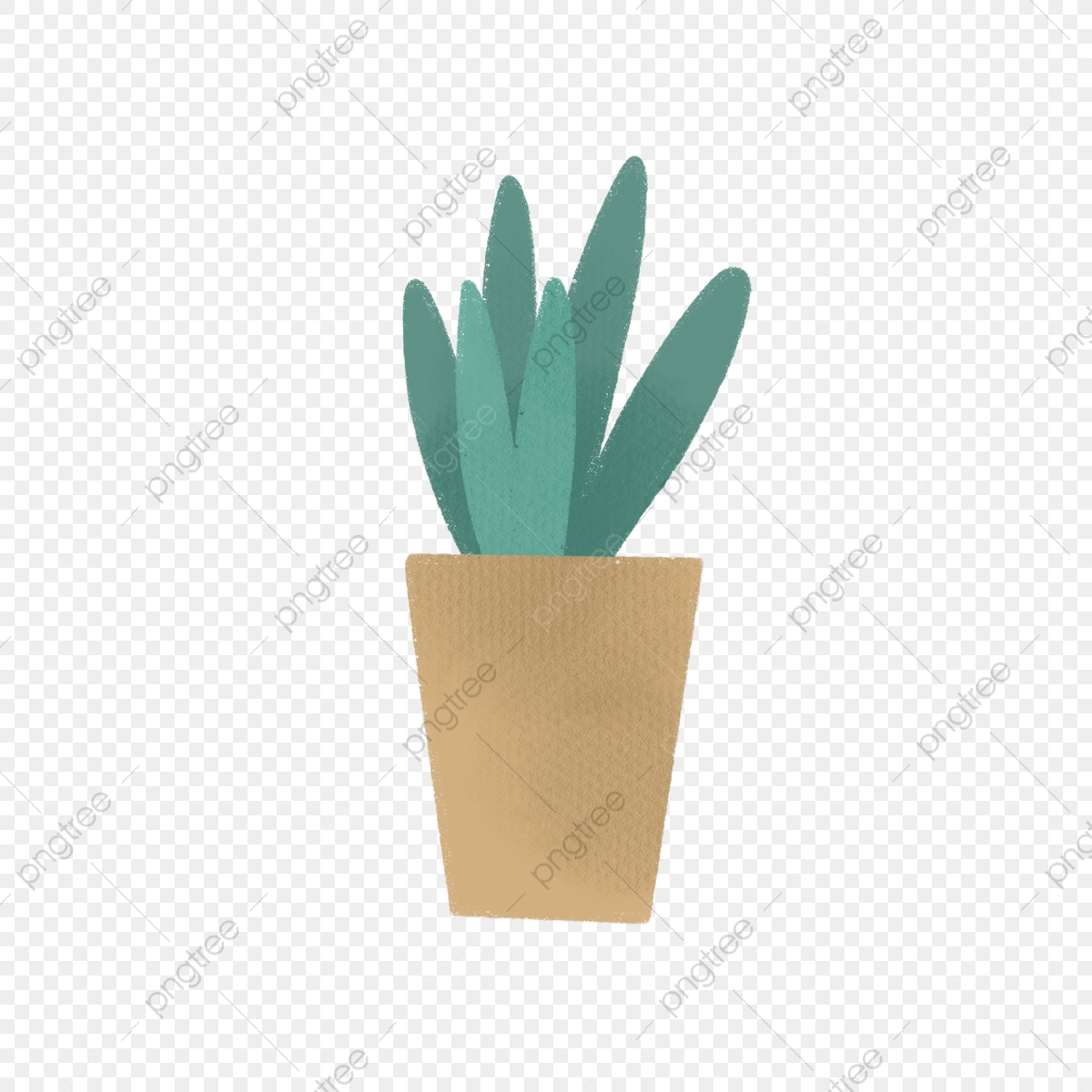 Hand Drawn Cute House Plant Drawing Nature Hand Drawn Png Transparent Clipart Image And Psd File For Free Download