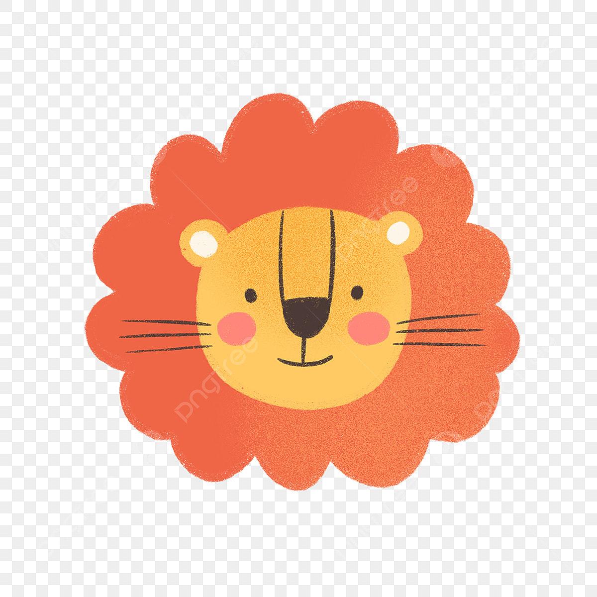 Tangan Ditarik El Wajah Singa Haiwan Binatang Kartun