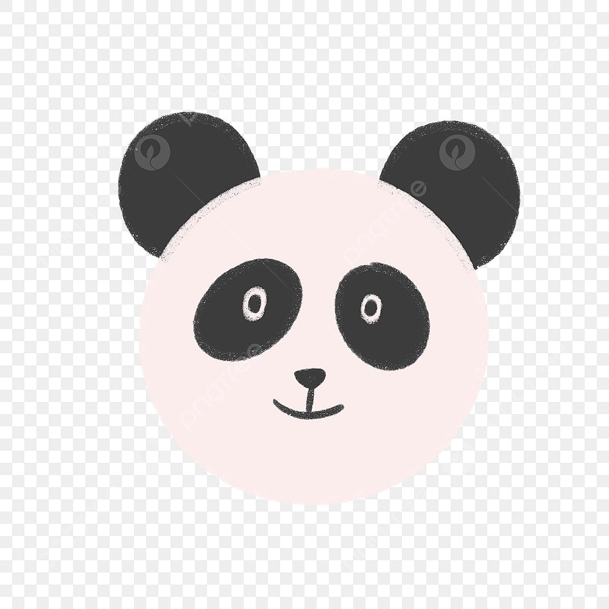Tangan Ditarik Panda Muka Haiwan Binatang Kartun Fail PNG