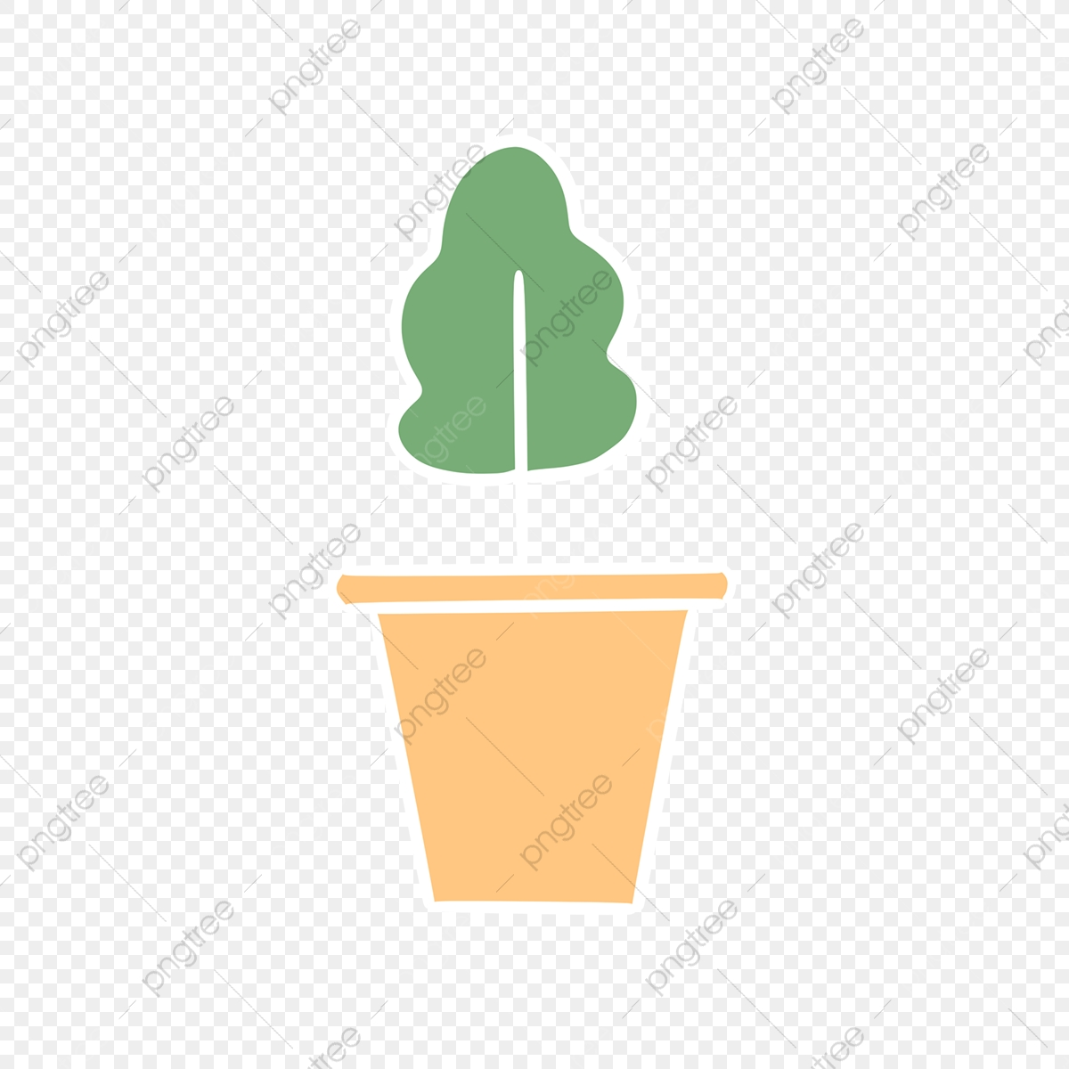 Hand Drawn Cute Simple Plants Drawing Pot Nature Png Transparent Clipart Image And Psd File For Free Download