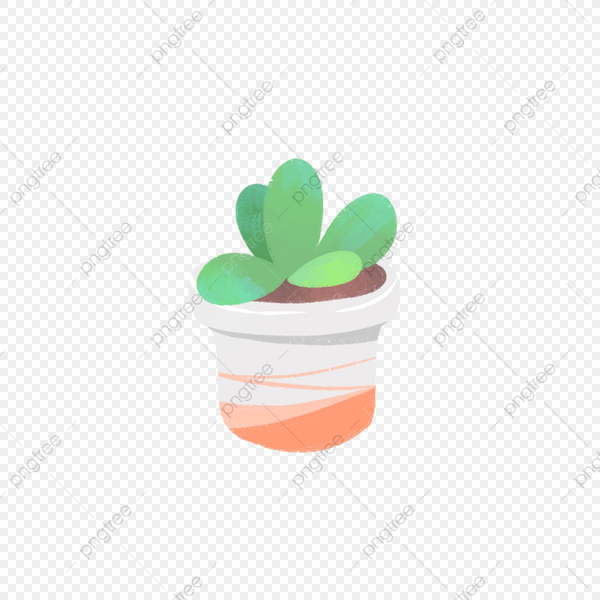 Hand Drawn Cute Succulent In Orange Pot Drawing Nature Hand Drawn Png Transparent Clipart Image And Psd File For Free Download