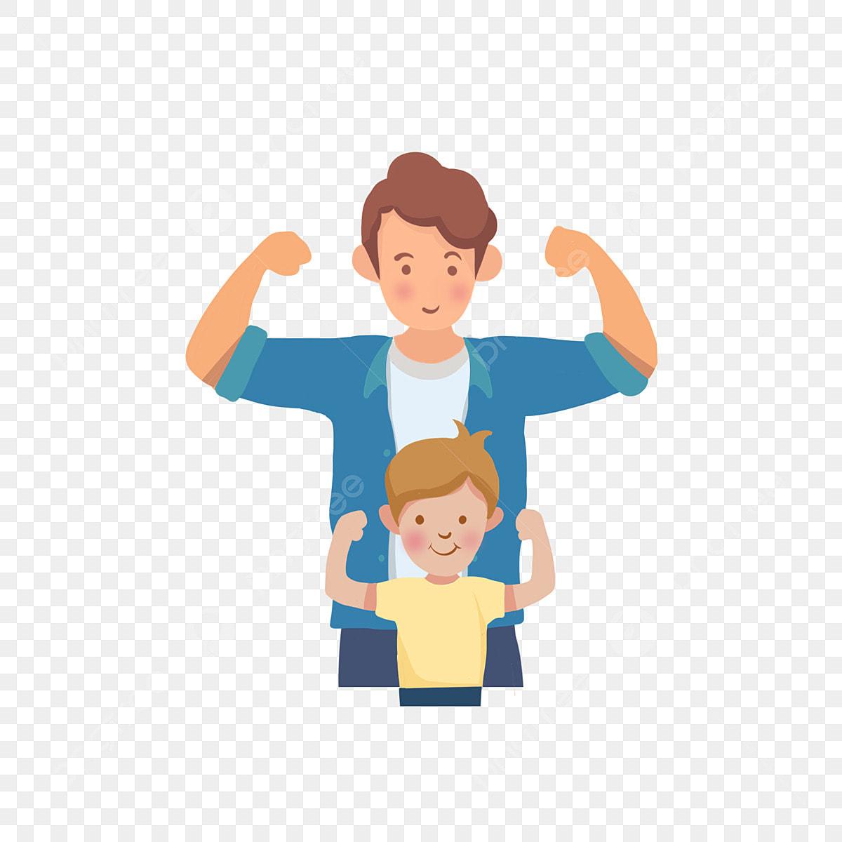 Vater Und Kind Bild Gemalt Die Familie Kinder Kinder Png Und