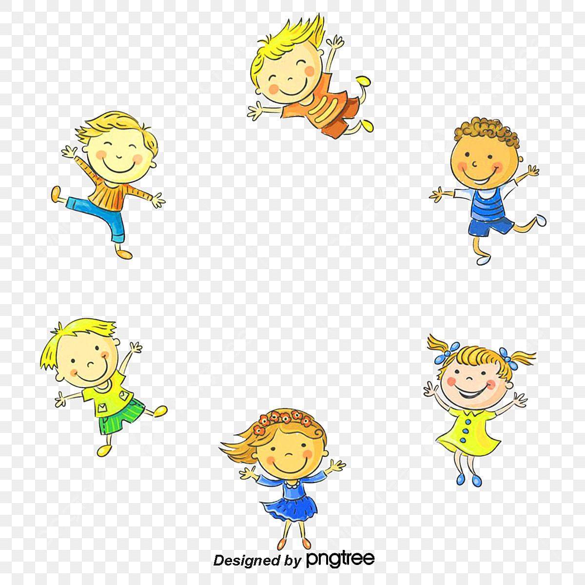 Vector illustration of happy children's day.
