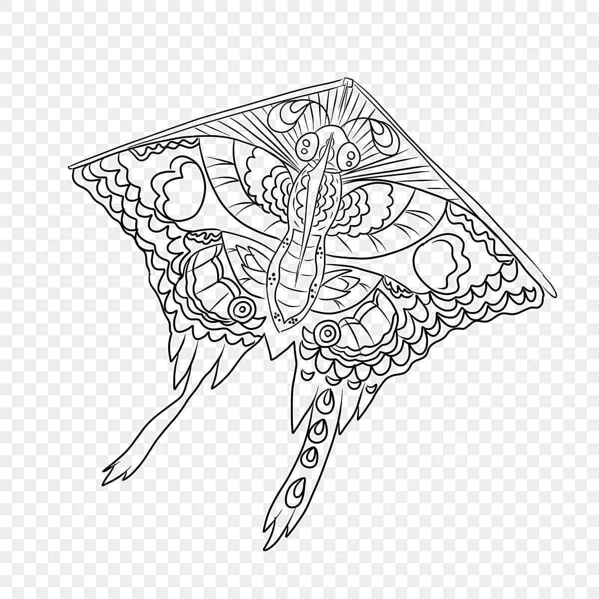 Gambar Kite Ilustrasi Vektor Lukisan Garis Corak Layang Layang Lukisan Garis Corak Png Dan Psd Untuk Muat Turun Percuma