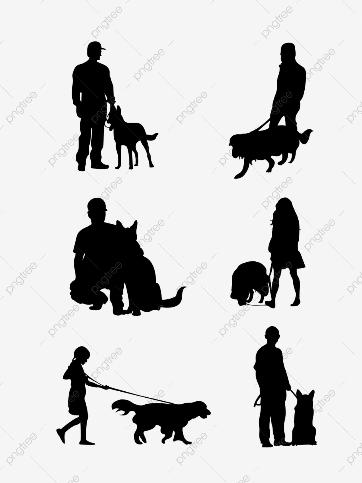 Black and White Dog Sitting and Panting - Royalty Free Clipart Picture