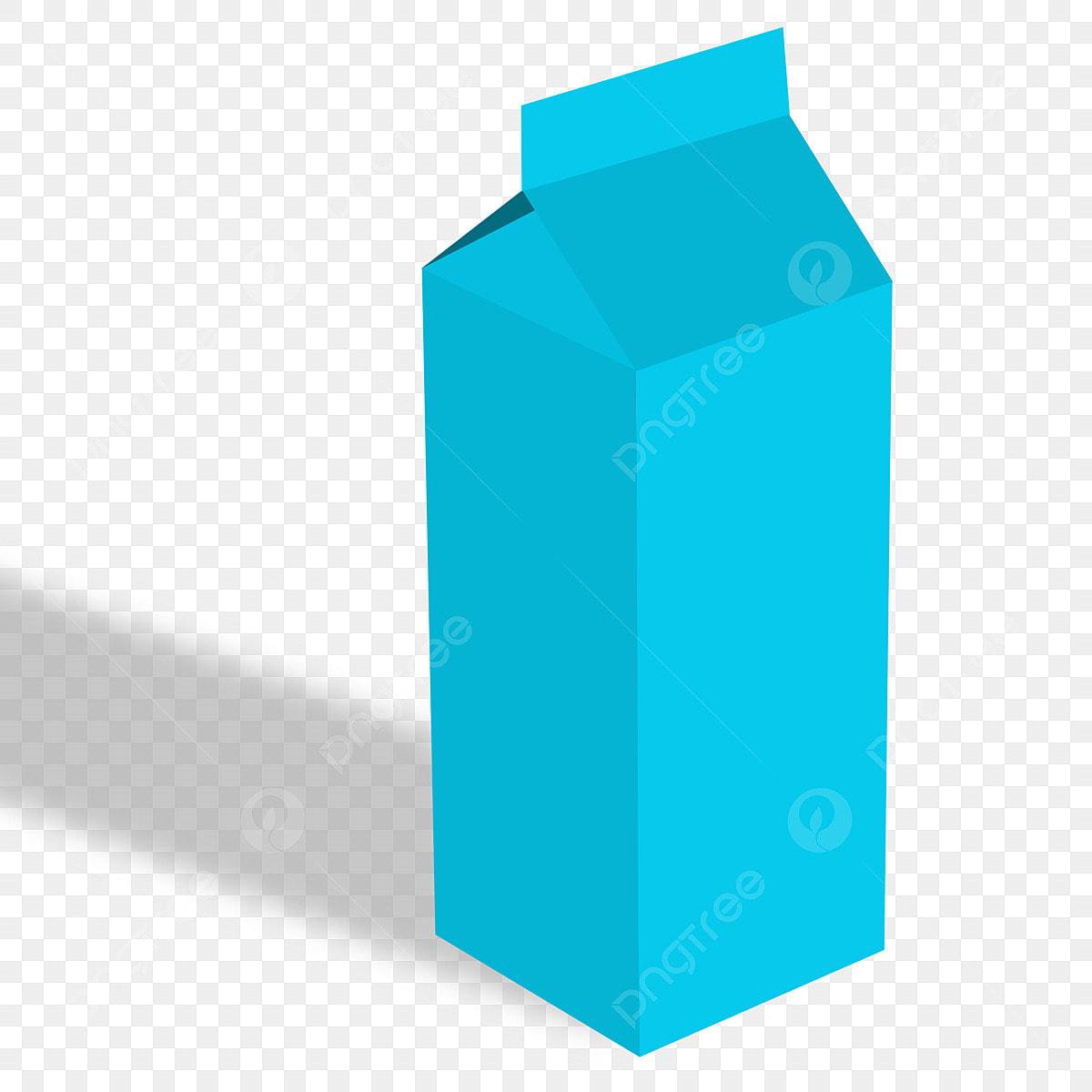 Milk Box Mockup Free Download Product Mockup Blue Png