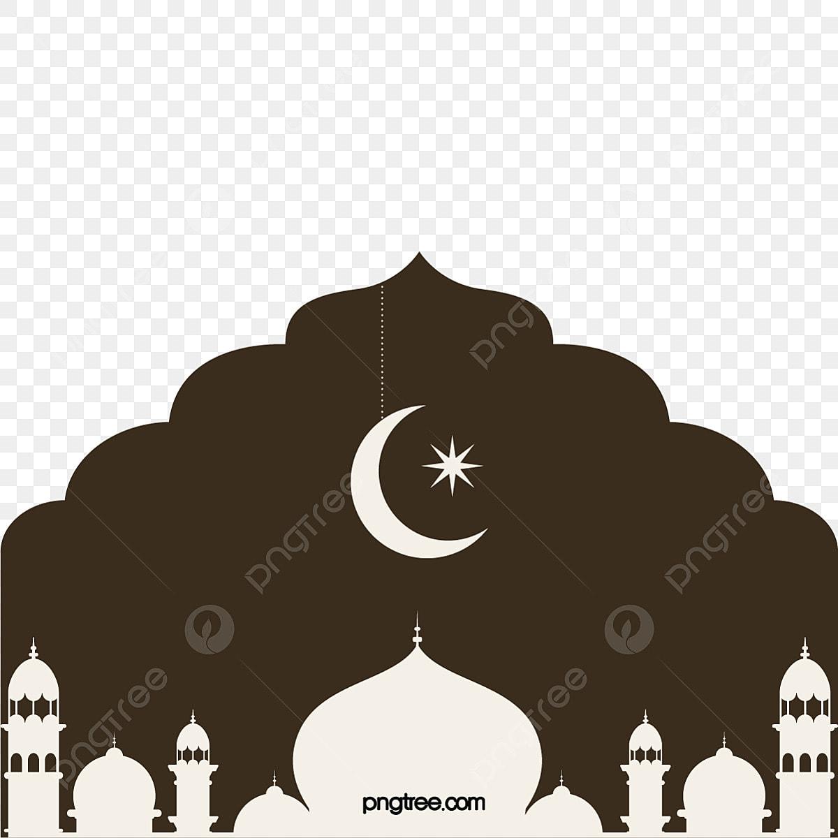 Gambar Gaya Flat Bulan Di Masjid Coklat Islam Islam Memecahkan Landasan Pantas Png Dan Vektor Untuk Muat Turun Percuma