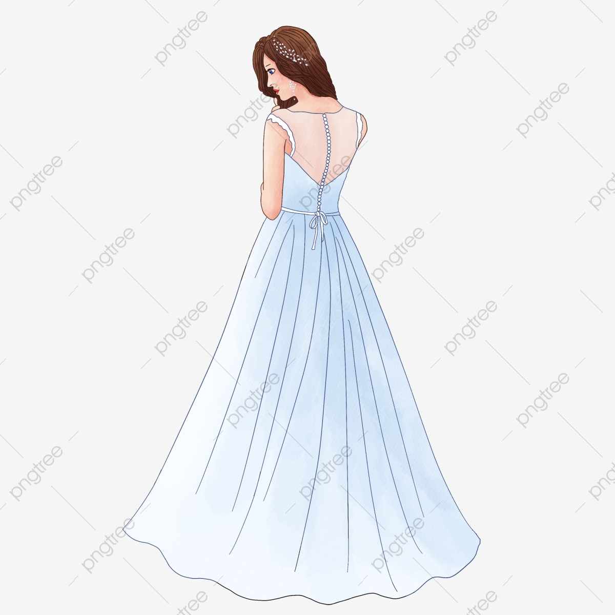 Princess White Gauze Princess White Gauze Cartoon PNG