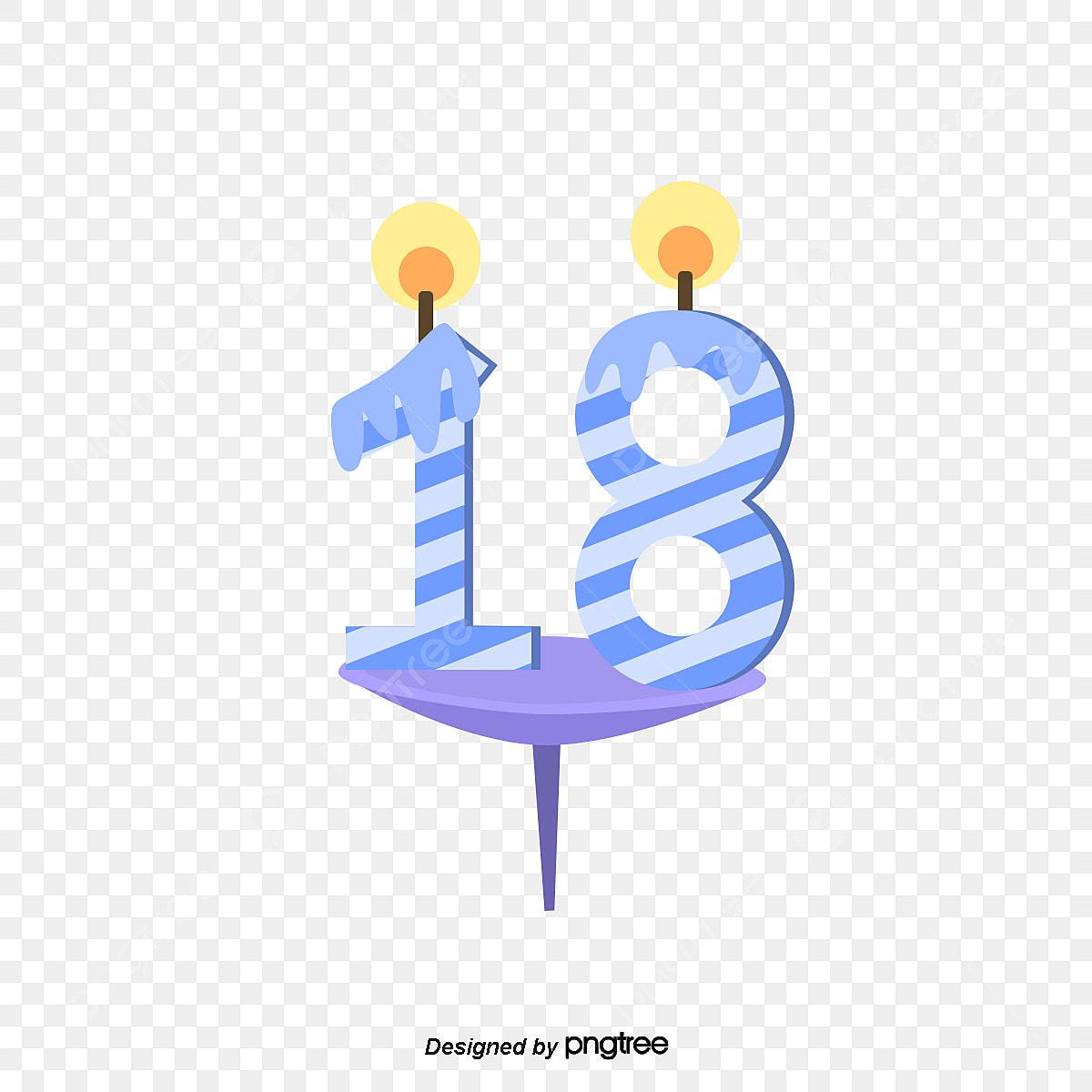 Púrpura 18 Años Decoración De Velas 18 Años Número Feliz