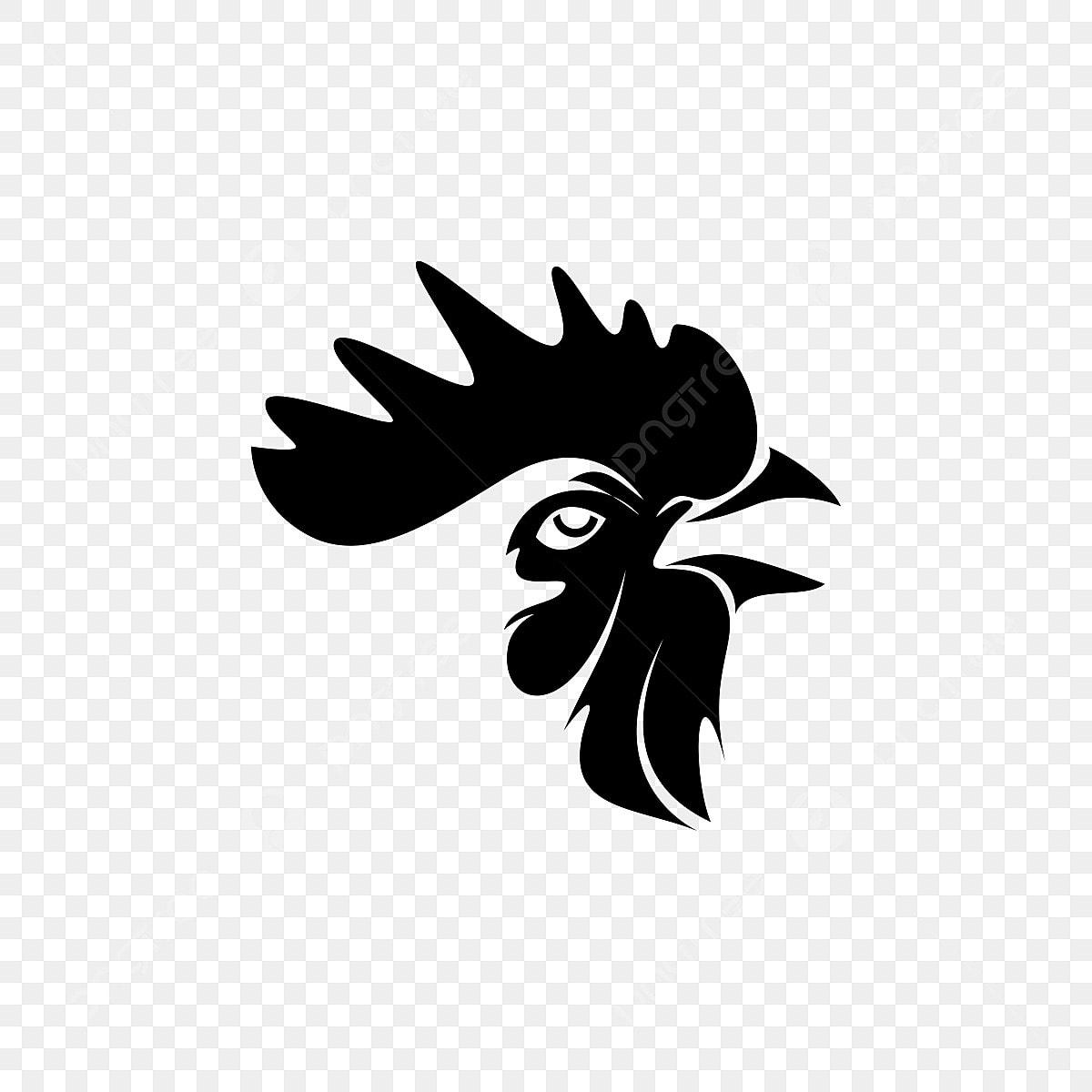 Gallo Cabeza Silueta, Agricultura, Animal, Arte PNG y ... (1200 x 1200 Pixel)