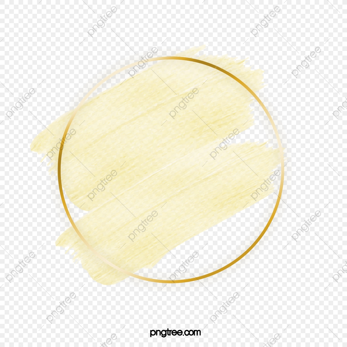Hình Tròn Màu Vàng Nhạt Viền Vàng Tường Rất đơn Giản Bóng