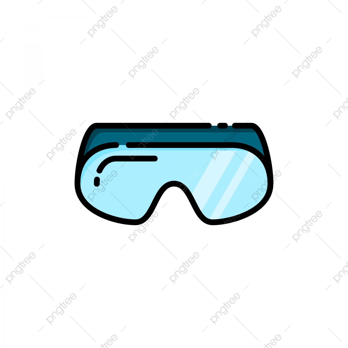 Safety Goggles Fill Outline Icon Goggles Safety Equipment