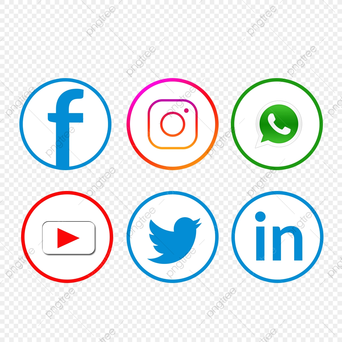 Social Media Icon Set Facebook Whatsapp Youtube Facebook Icons Whatsapp Icons Youtube Icons Png Transparent Clipart Image And Psd File For Free Download