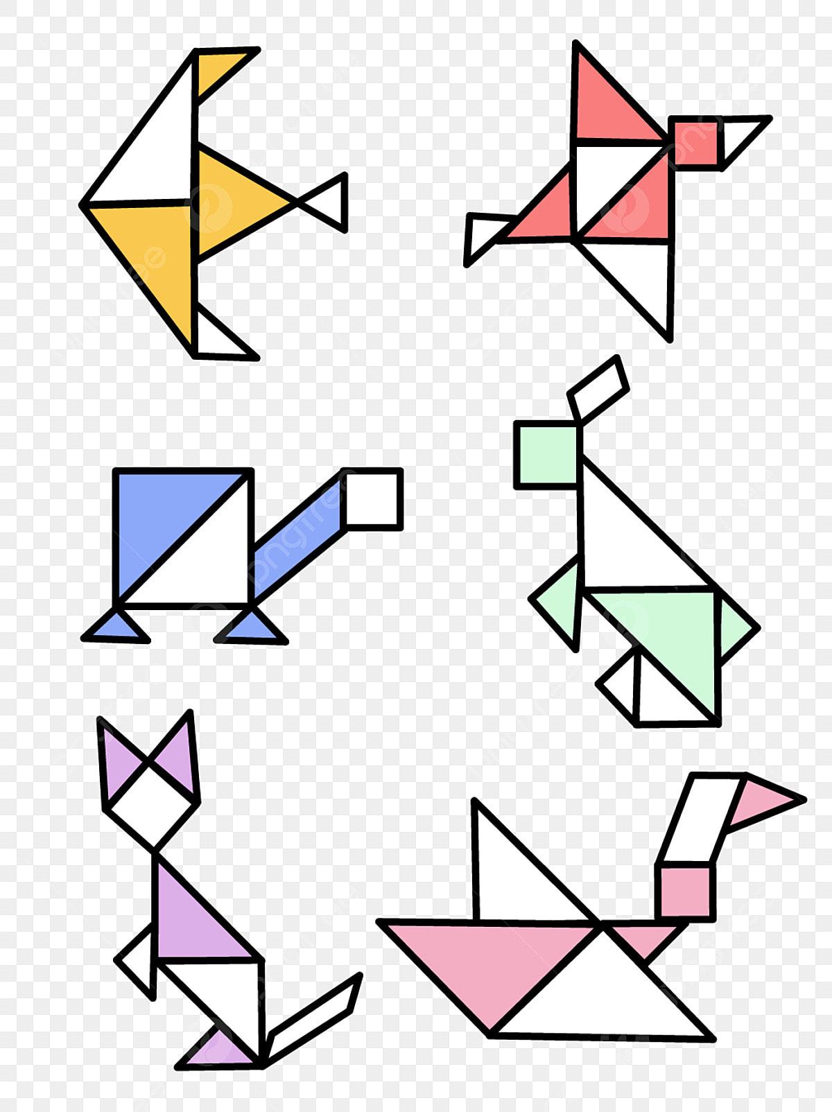 タングラム パズル タングラムパズル Svg 赤 タングラムパズルの