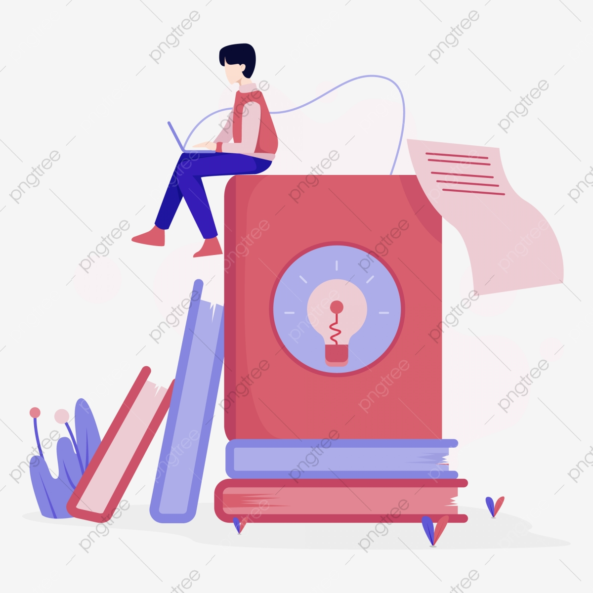 Tutorial And E Book Illustration Concept Flat Design Concept Of Web Page Design For Website And Mobile Websitevector Illustration Education Vector Book Png And Vector With Transparent Background For Free Download