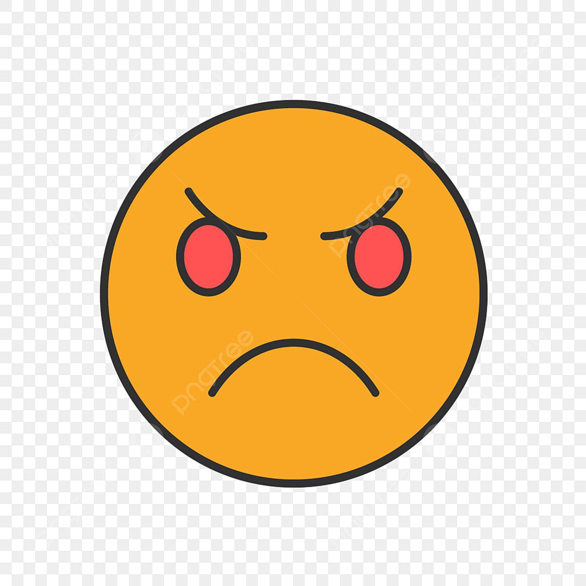 Vecteur Smiley En Colere Clipart Emoji Icones Emoji Icones En Colere Png Et Vecteur Pour Telechargement Gratuit
