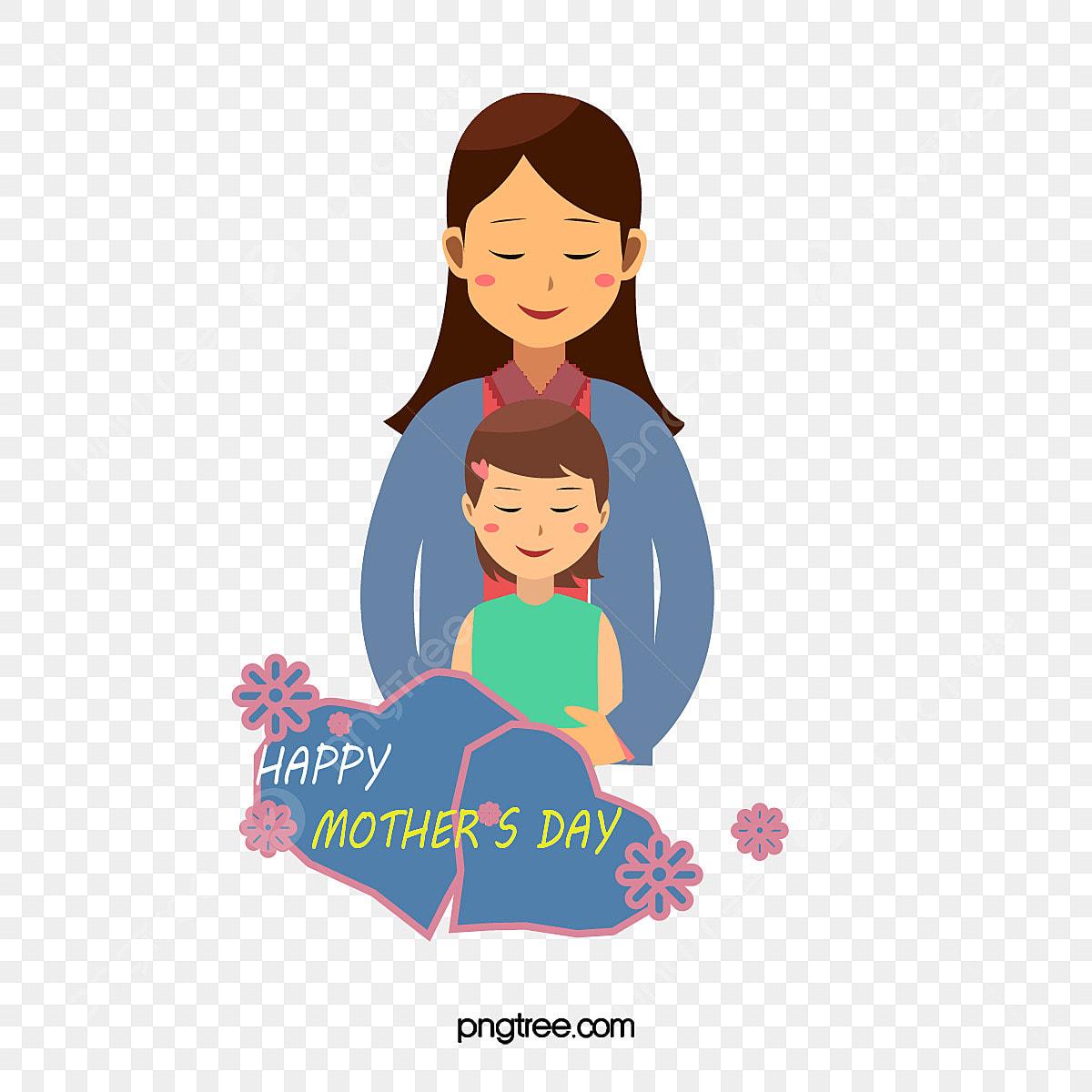 Gambar Vektor Rata Kartun Hari Ibu Ibu Memegang Anak Perempuan Kartun Anak Perempuan Ibu Png Dan Vektor Untuk Muat Turun Percuma
