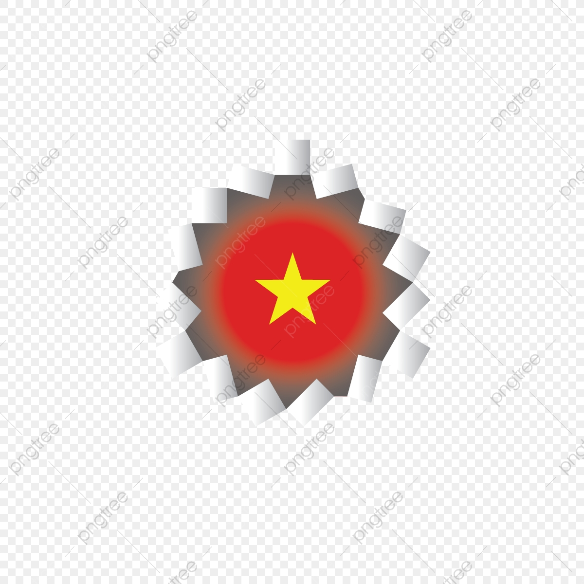 Vietnam Flag Rupture Of Paper Paper Rupture Background Png And Vector With Transparent Background For Free Download