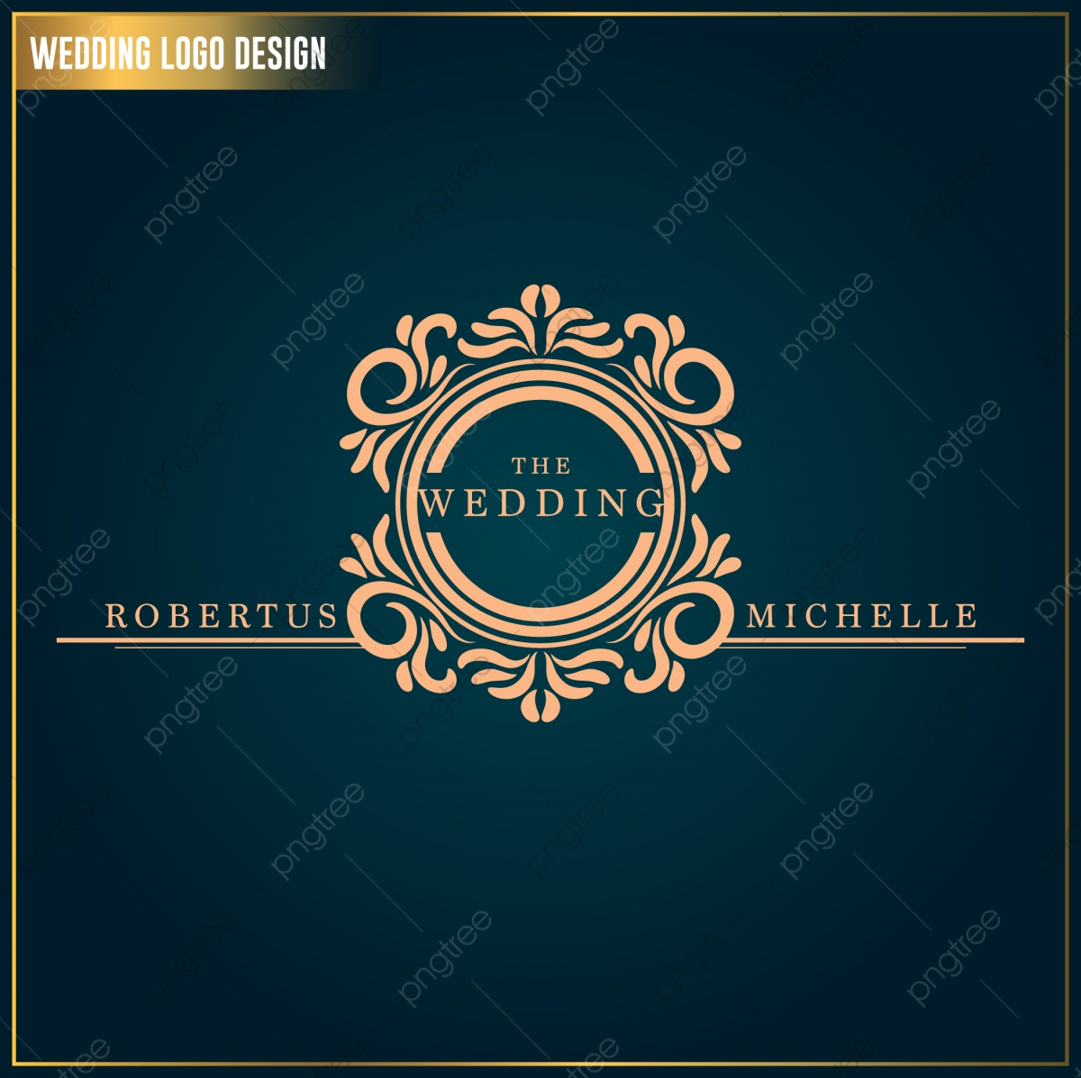 Wedding Logo Design Template Wedding Logo Vector Feminine