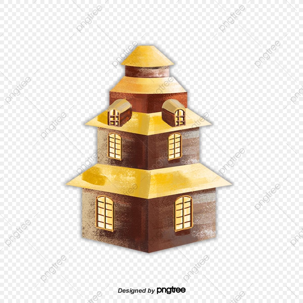 Villa A Tre Piani la villa di tre piani di colore giallo, elementi di, villa