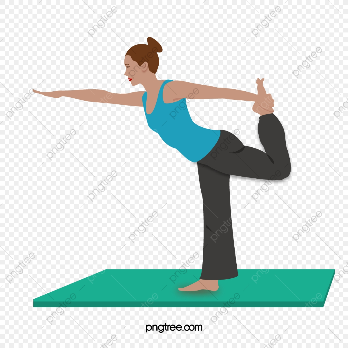 Yoga Teacher Of Vector Cartoon Sports Characters Yoga Day Character Cartoon Yoga Png And Vector With Transparent Background For Free Download