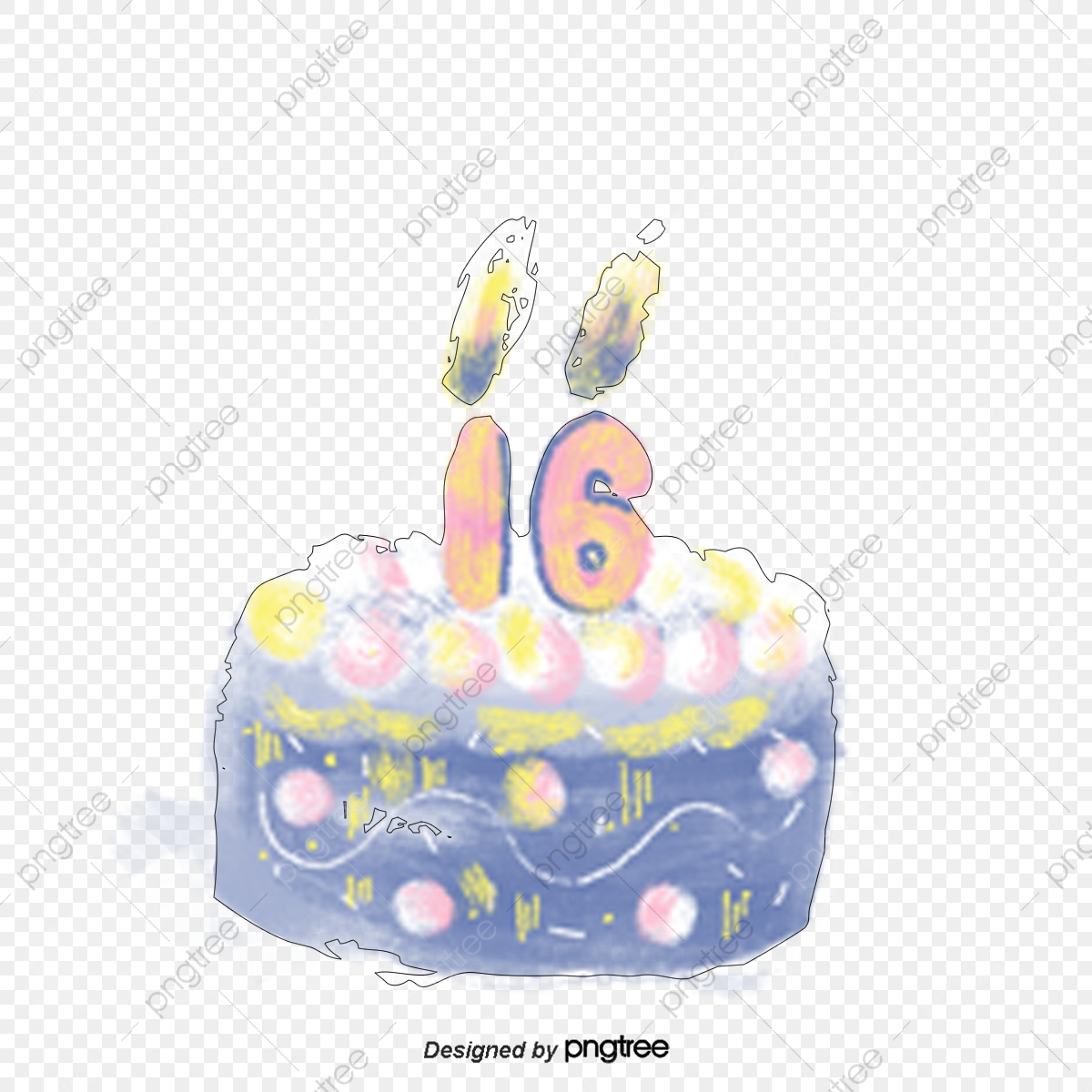 Admirable Cake Candles For Sixteenth Birthday Number Watercolor Flames Personalised Birthday Cards Epsylily Jamesorg