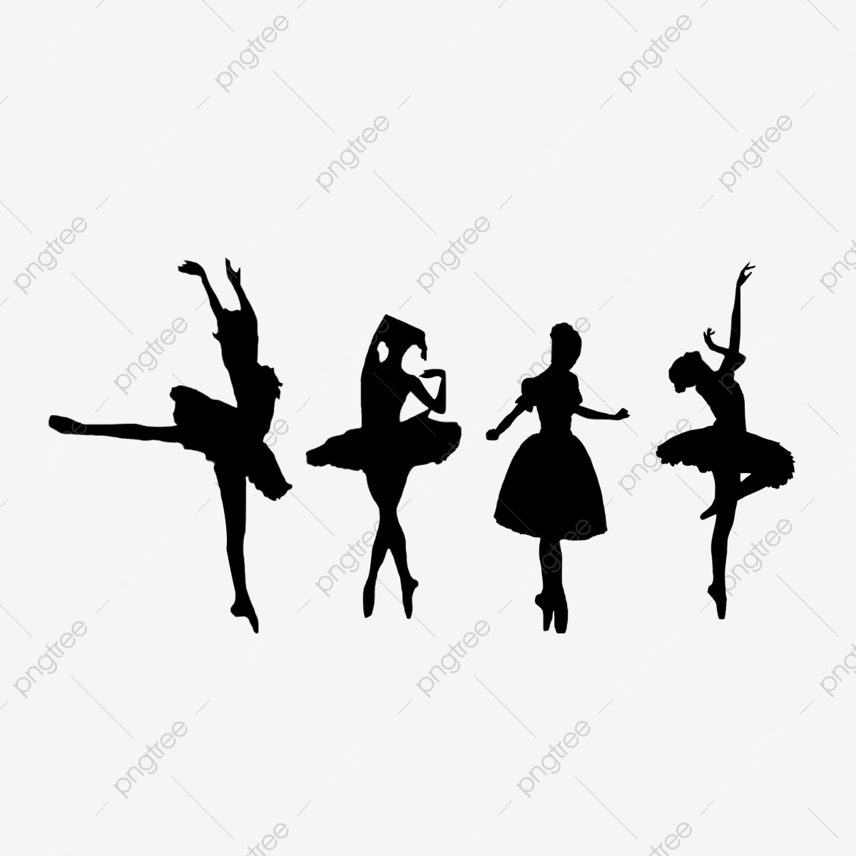 Cartoon Black Dance Silhouette Cartoon Black Dance Png Transparent Clipart Image And Psd File For Free Download