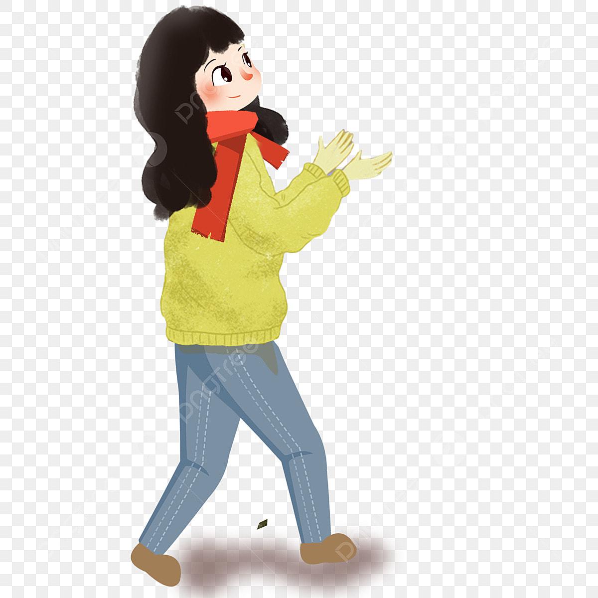 Alone Cartoon Girl cartoon cute girl walking alone, cartoon, cute, girl png