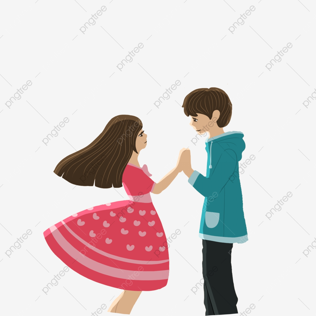 Couple Holding Hands Vector PSD And Clipart With