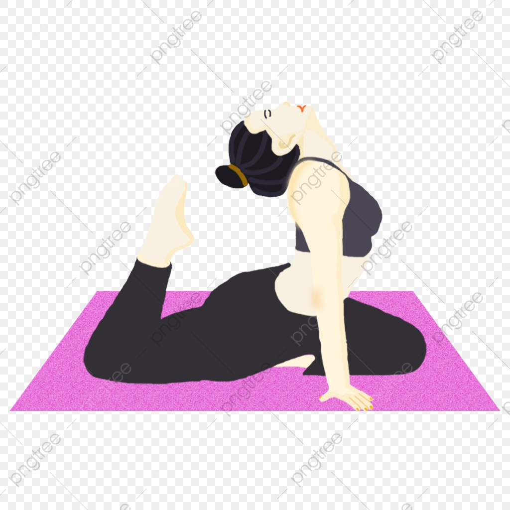 Cartoon Doing Yoga Girl Free Element Yoga Sport Cartoon Woman Png Transparent Clipart Image And Psd File For Free Download