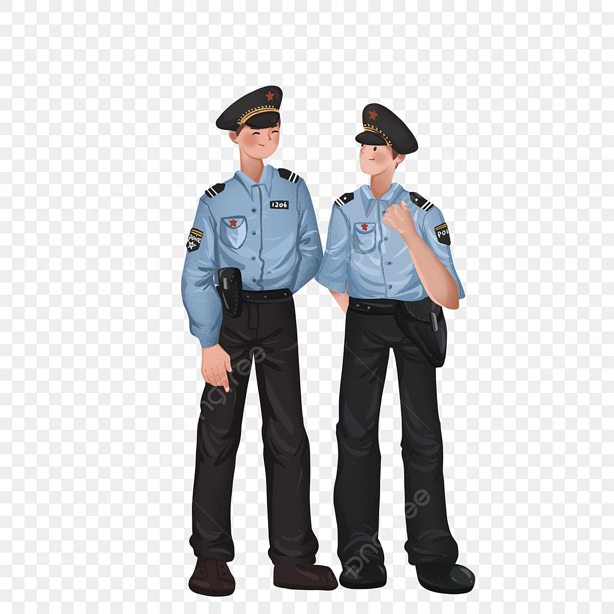Dessin Animé Police Personnage Patrouille, Homme, Policiers, Patrouille Fichier PNG et PSD pour ...