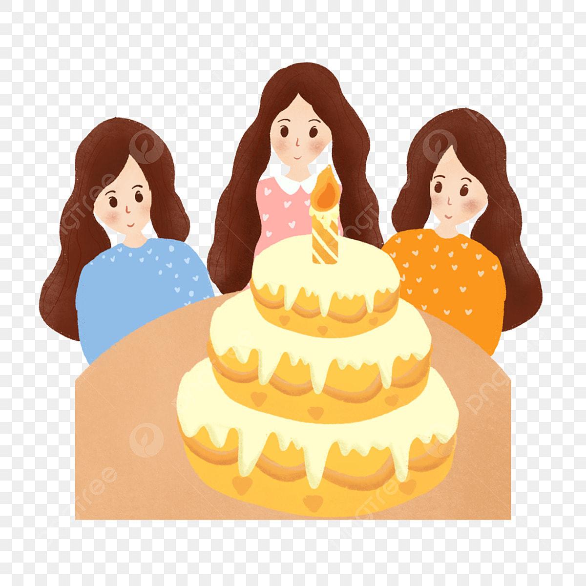 Superb Cartoon Simple Birthday Cake Girl Decoration Material Decorative Personalised Birthday Cards Akebfashionlily Jamesorg