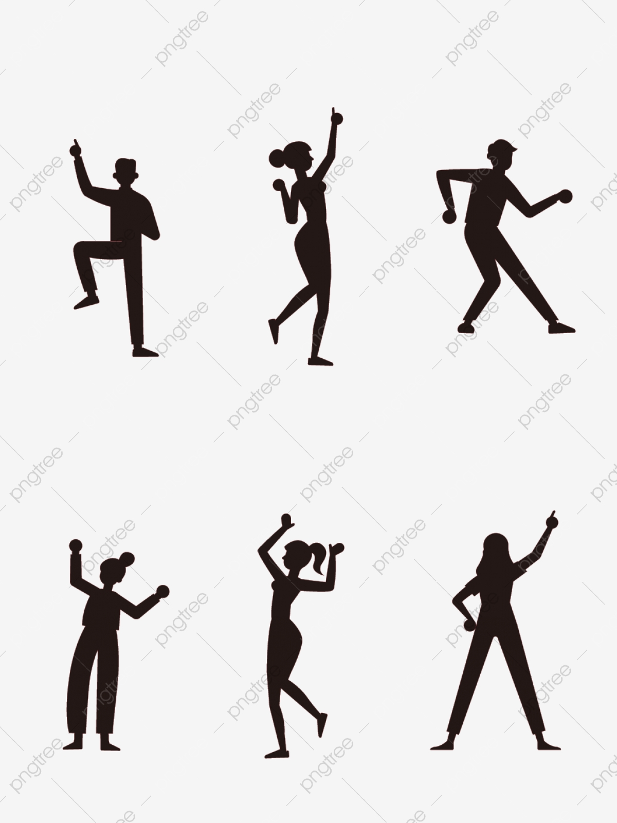Character Dance Silhouette Cool Black Dancing Hand Drawn Illustration Elements Character Dance Silhouette Png And Vector With Transparent Background For Free Download