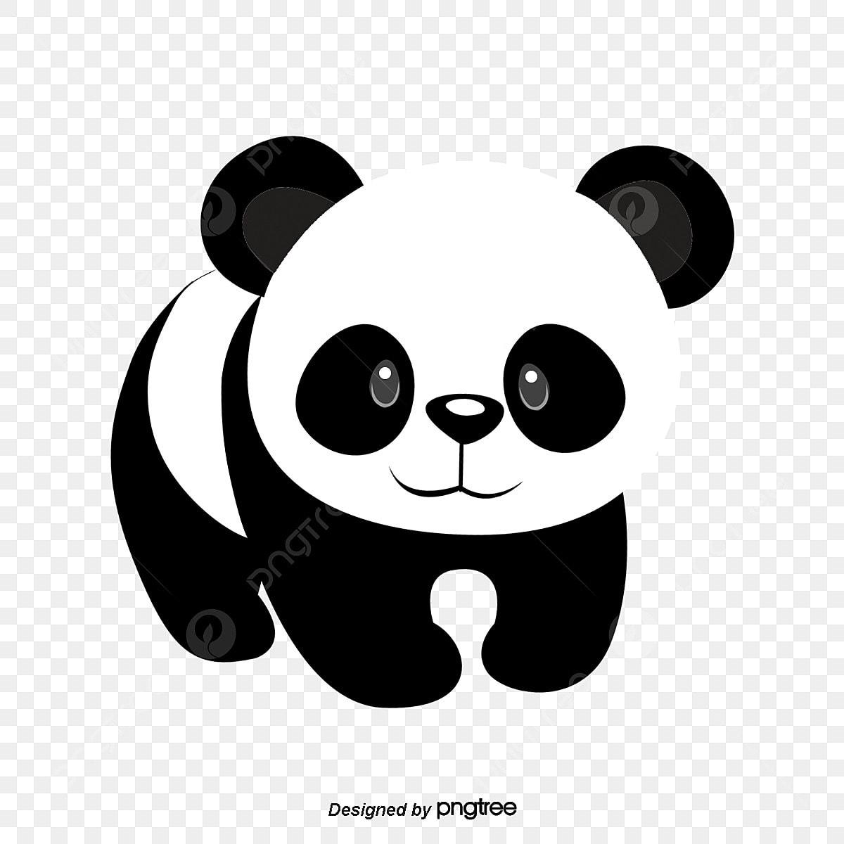 Gambar Cute Hitam Dan Putih Haiwan Panda Haiwan Comel Harta Nasional Png Dan Psd Untuk Muat Turun Percuma