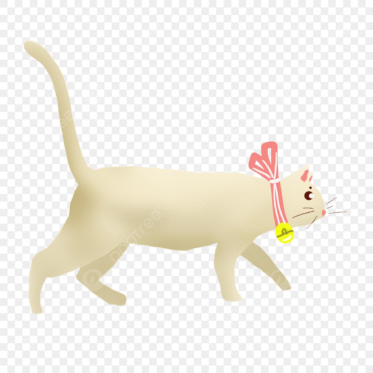 白い子猫 イラスト 漫画 透明素材 動物 イラスト 猫画像とpsd素材