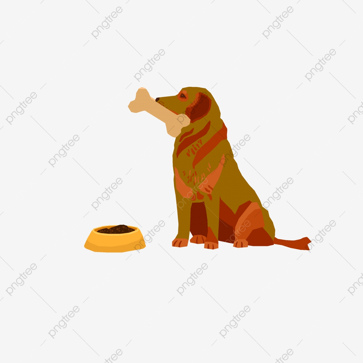 Dog Bone Decorative Elements Background Bones Kennel Bowl Png And Vector With Transparent Background For Free
