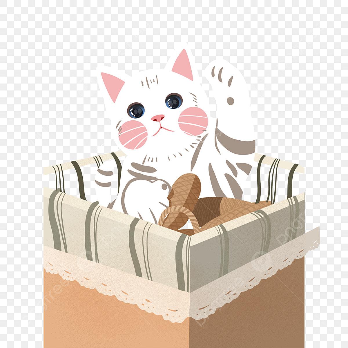 Gambar Tangan Ditarik Ilustrasi Anak Kucing Haiwan Tangan Ditarik Anak Kucing Bakul Png Dan Psd Untuk Muat Turun Percuma