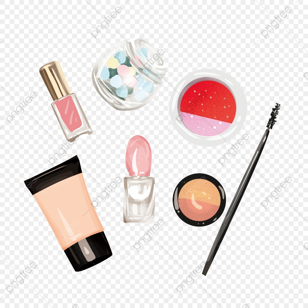 Hand Painted Cartoon Beauty Products Free Element Material Beauty Product Png Element Png Transparent Clipart Image And Psd File For Free Download