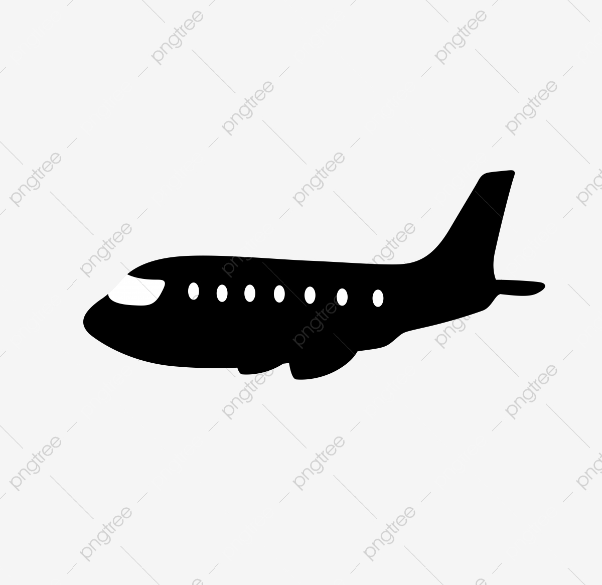Original Vector Aircraft Silhouette Material For Commercial Use
