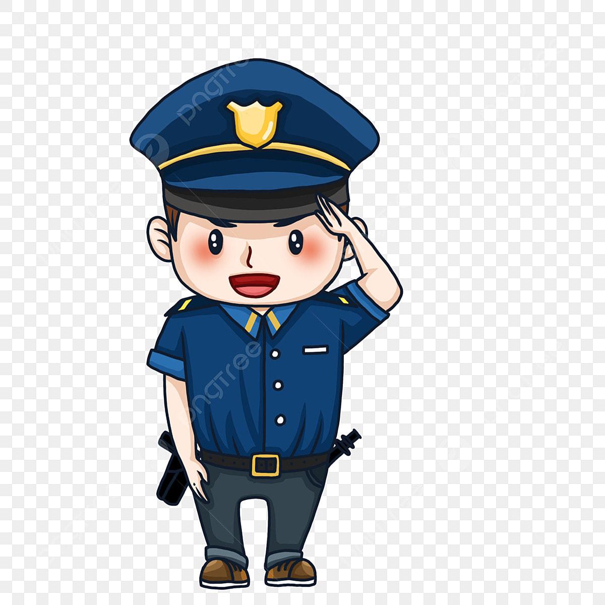 Version Q Dessin Anime Salut Oncle De Police Mignonne Dessin
