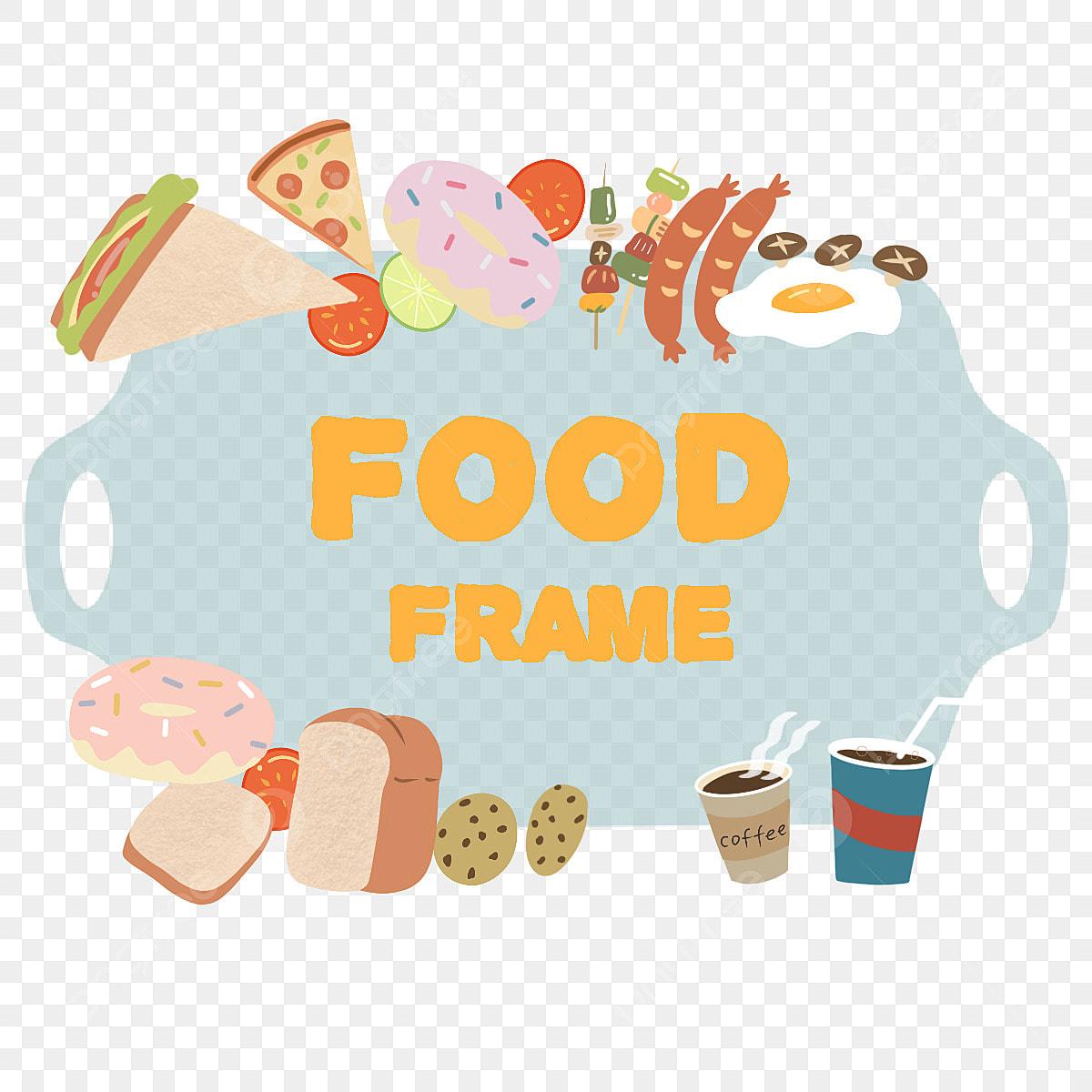 Simple Cartoon Style Food Combination Border Sandwich Cartoon