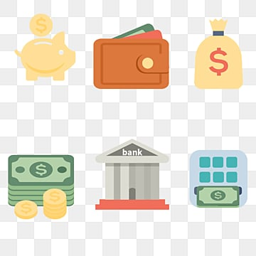 cartoon financial money bag dollar illustration, Finance, Cash, Dollar PNG and PSD