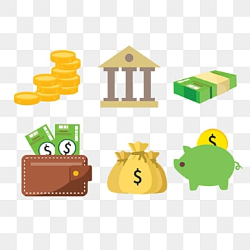 cartoon hand drawn financial bank dollar illustration, Money, Finance, Bank PNG and PSD