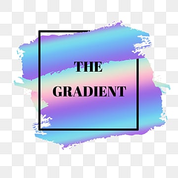 geometric gradient holographic brush label, Gradient, Label, Text In Box PNG and PSD