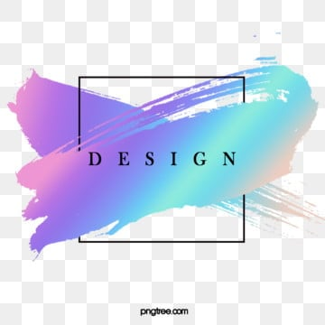 overlay brush holographic  border, Brush Strokes, Writing Brush, Iridescent Color PNG and PSD