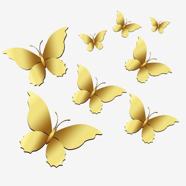 الفراشات الذهبية Goldies التدرج فراشة بي إن جي ذهب Png وملف Psd للتحميل مجانا