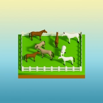 animals in the landscape, Isometric View, Landscape, Nature PNG and PSD