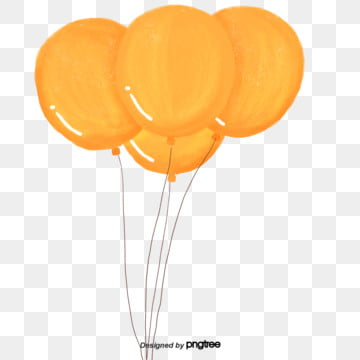 Balloons orange. Png vector psd and