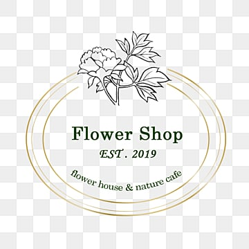 line draft flower florist decoration, Linear Flower, Flowers And Plants, Gold Foil Color PNG and PSD